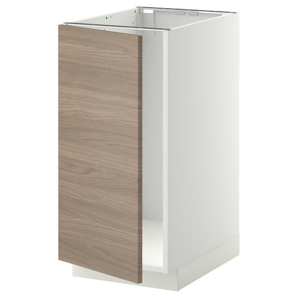 METOD Mobile lavello/raccolta differ., bianco/Brokhult grigio chiaro, 40x60 cm