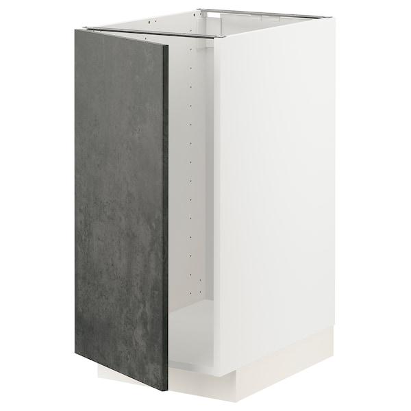 METOD Mobile lavello/raccolta differ., bianco/Kalhyttan effetto cemento grigio scuro, 40x60 cm