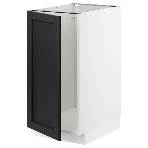 METOD Mobile lavello/raccolta differ., bianco/Lerhyttan mordente nero, 40x60 cm