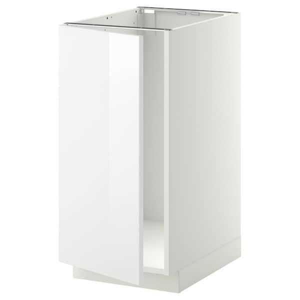 METOD Mobile lavello/raccolta differ., bianco/Ringhult bianco, 40x60 cm