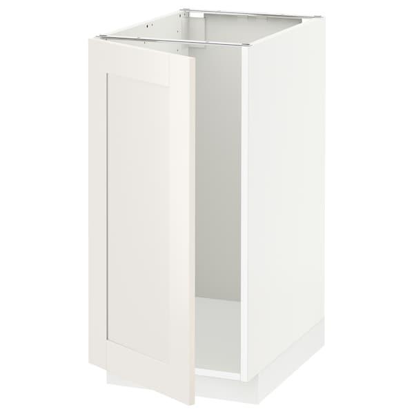 METOD Mobile lavello/raccolta differ., bianco/Sävedal bianco, 40x60 cm