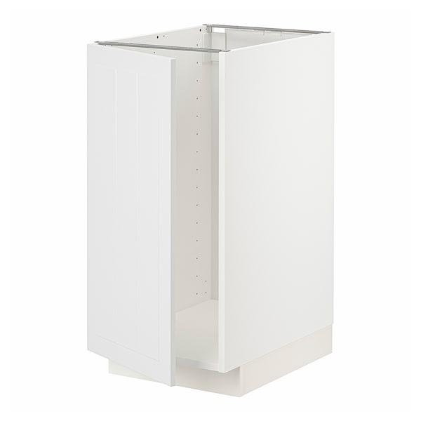 METOD Mobile lavello/raccolta differ., bianco/Stensund bianco, 40x60 cm