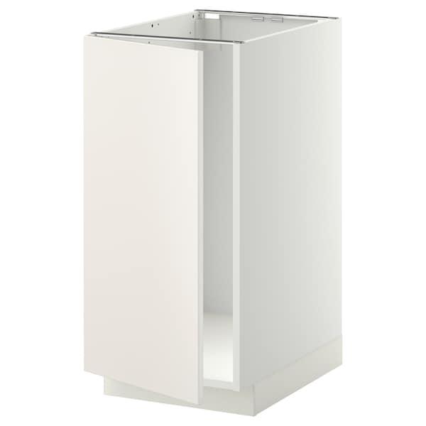 METOD Mobile lavello/raccolta differ., bianco/Veddinge bianco, 40x60 cm
