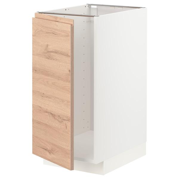 METOD Mobile lavello/raccolta differ., bianco/Voxtorp effetto rovere, 40x60 cm