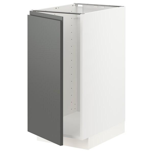 METOD Mobile lavello/raccolta differ., bianco/Voxtorp grigio scuro, 40x60 cm