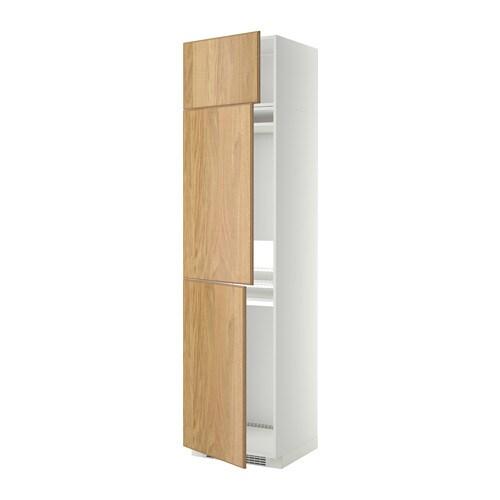 Metod mobile per frigo congelatore 3 ante bianco hyttan - Mobile frigo incasso ...