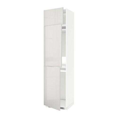 Metod mobile per frigo congelatore 3 ante bianco ringhult lucido grigio chiaro ikea - Ikea elettrodomestici da incasso ...