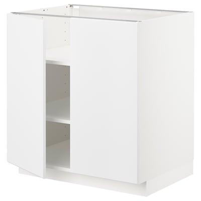 METOD Mobile/ripiano/2 ante, bianco/Kungsbacka bianco opaco, 80x60 cm
