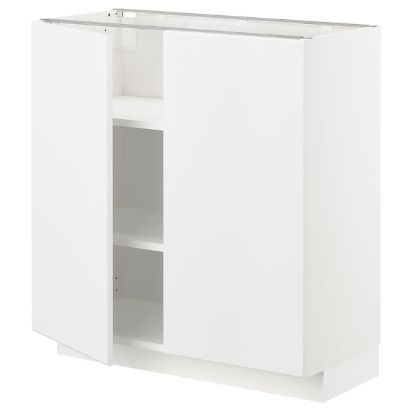 METOD Mobile/ripiano/2 ante, bianco/Kungsbacka bianco opaco, 80x37 cm