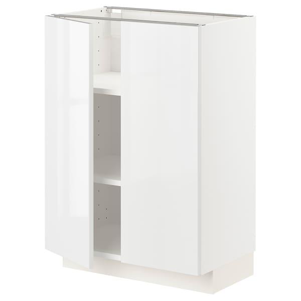 METOD Mobile/ripiano/2 ante, bianco/Ringhult bianco, 60x37 cm