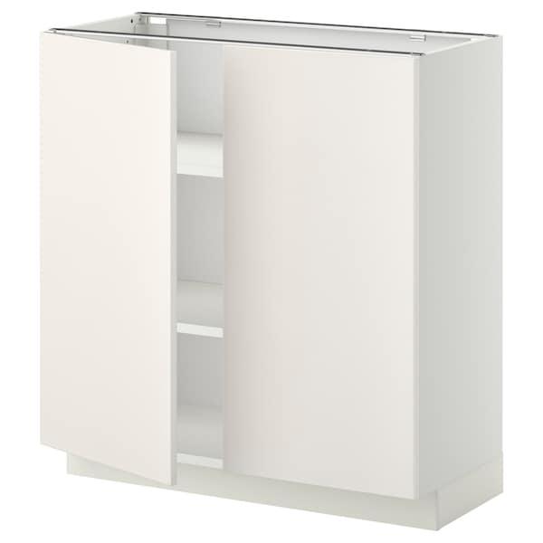 METOD Mobile/ripiano/2 ante, bianco/Veddinge bianco, 80x37 cm