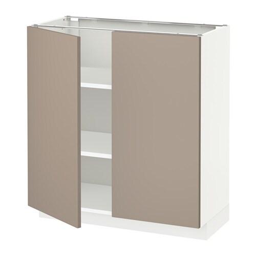 Metod mobile ripiano 2 ante bianco ubbalt beige scuro - Ante mobili ikea ...
