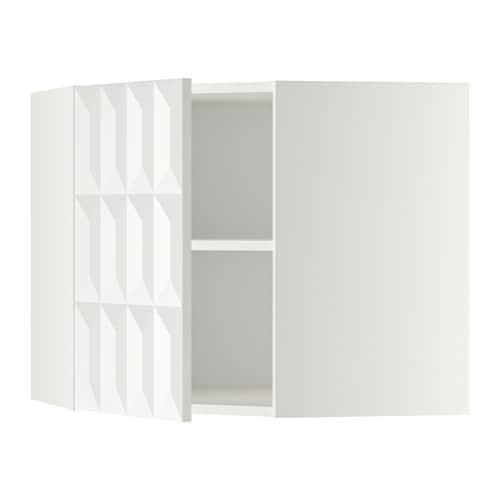 METOD Pensile angolare con ripiani - bianco, Veddinge bianco, 68x80 ...