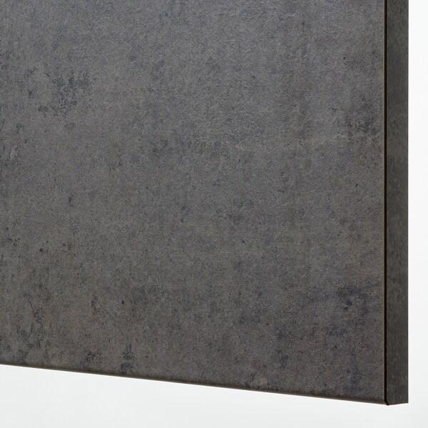 METOD Pensile angolare con ripiani, nero/Kalhyttan effetto cemento grigio scuro, 68x60 cm
