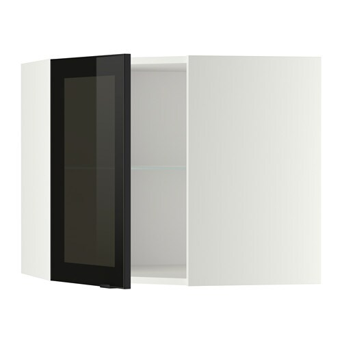 Metod pensile angolare ripiani anta vetro bianco jutis vetro fum nero 68x60 cm ikea - Ikea mensole vetro ...