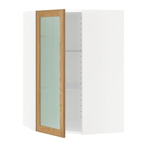 Metod pensile angolare ripiani anta vetro bianco for Vetro per mobili ikea