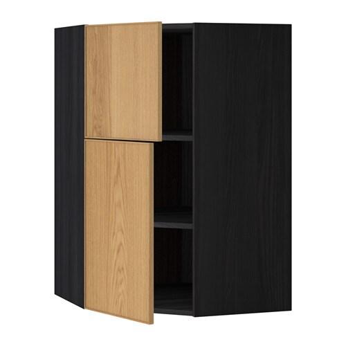 Metod pensile angolare ripiani 2 ante effetto legno nero - Ante mobili ikea ...