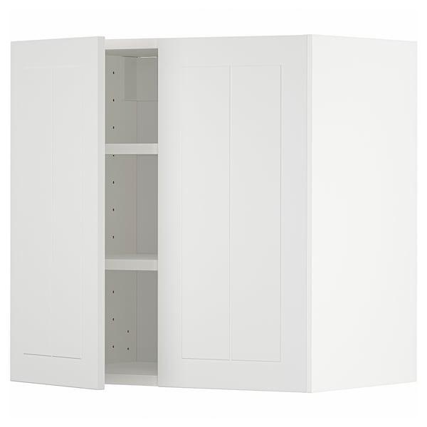 METOD Pensile con ripiani/2 ante, bianco/Stensund bianco, 60x60 cm