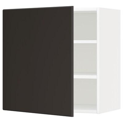 METOD Pensile con ripiani, bianco/Kungsbacka antracite, 60x60 cm
