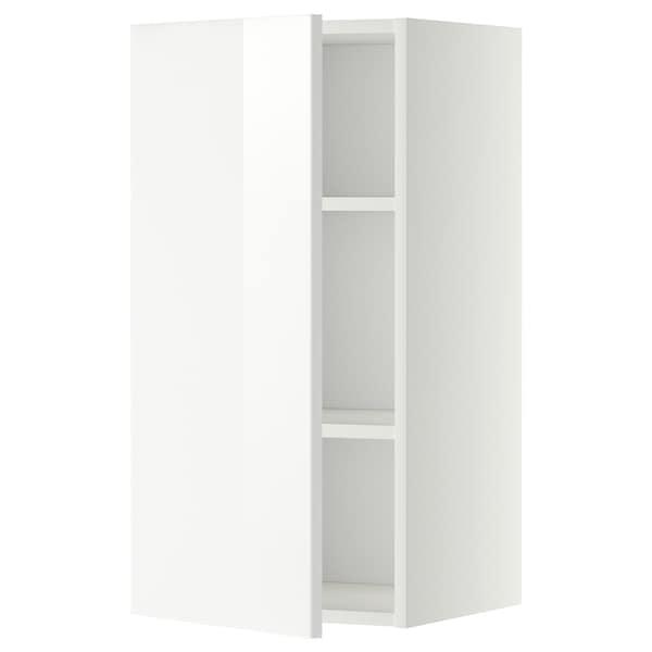 METOD Pensile con ripiani, bianco/Ringhult bianco, 40x80 cm