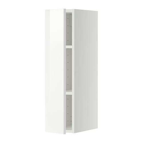 METOD Pensile con ripiani - bianco, Ringhult lucido bianco, 20x80 cm ...