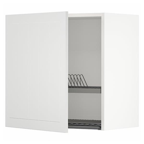 METOD Pensile con scolapiatti, bianco/Stensund bianco, 60x60 cm