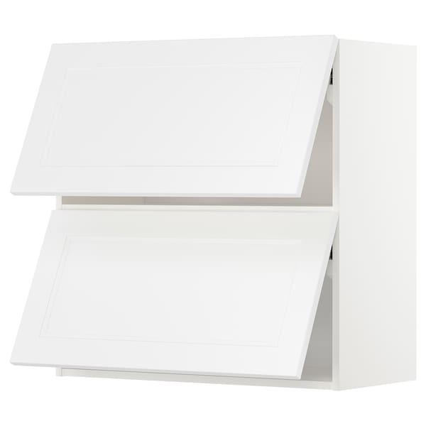 METOD Pensile orizzontale con 2 ante, bianco/Axstad bianco opaco, 80x80 cm