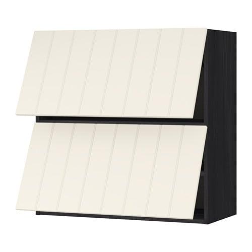 metod pensile orizzontale con 2 ante effetto legno nero. Black Bedroom Furniture Sets. Home Design Ideas