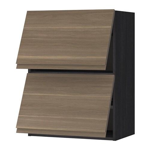 Metod pensile orizzontale con 2 ante effetto legno nero voxtorp effetto noce 60x80 cm ikea - Pensile bagno orizzontale ...