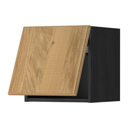 Metod pensile orizzontale effetto legno nero hyttan - Pensile bagno orizzontale ...
