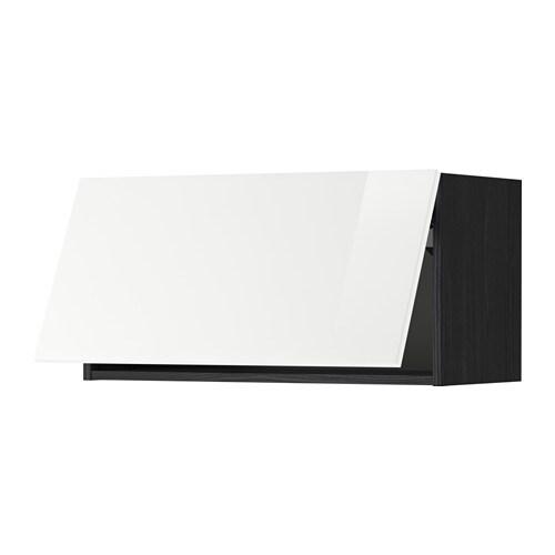 Metod pensile orizzontale effetto legno nero ringhult lucido bianco 80x40 cm ikea - Pensile bagno orizzontale ...