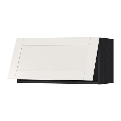 Metod pensile orizzontale effetto legno nero s vedal bianco 80x40 cm ikea - Pensile bagno orizzontale ...