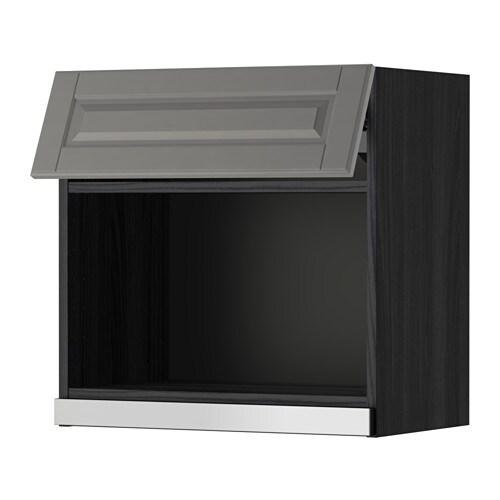 Metod pensile per forno a microonde effetto legno nero bodbyn grigio 60x60 cm ikea - Ikea elettrodomestici da incasso ...
