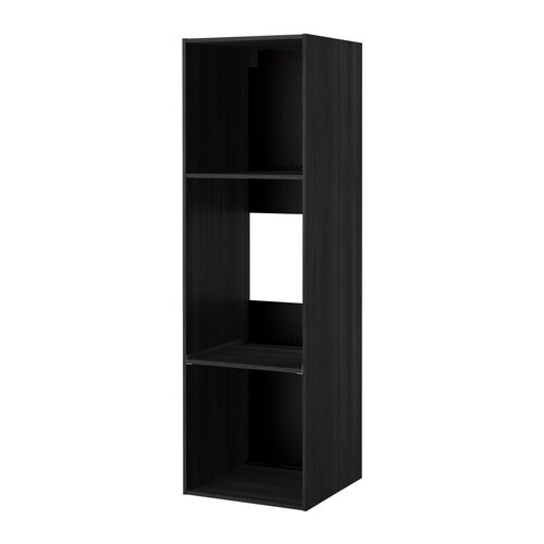 metod struttura mobile per frigo forno effetto legno nero 60x60x200 cm ikea. Black Bedroom Furniture Sets. Home Design Ideas