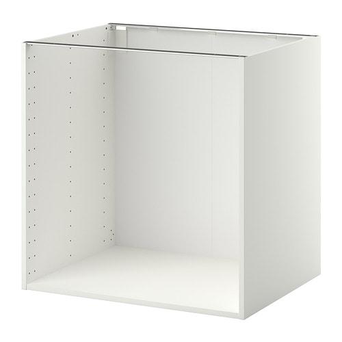 Metod struttura per mobile base bianco 80x60x80 cm ikea for Mobile coprilavatrice ikea