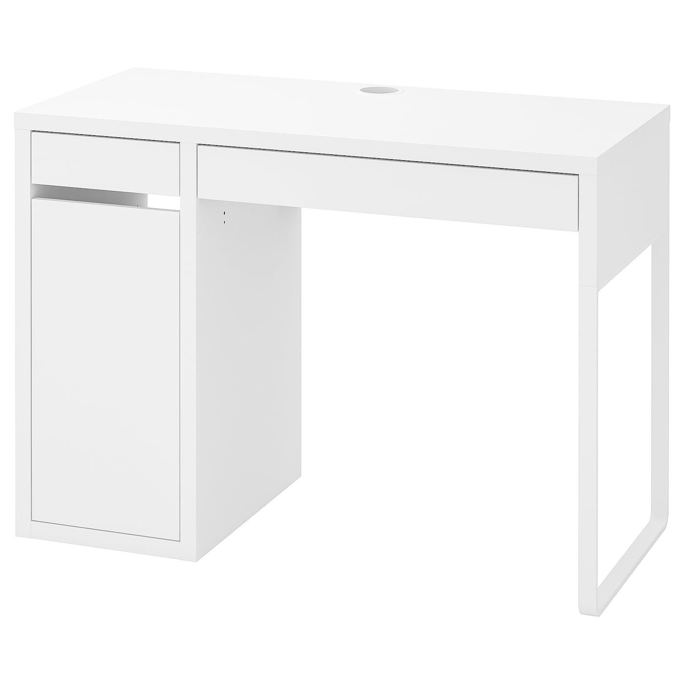 Scrivania Con Cassettiera Ikea micke scrivania - bianco 105x50 cm