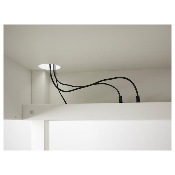 MICKE Mobile studio angolare, bianco, 100x142 cm