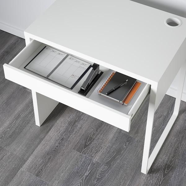 MICKE Scrivania, bianco, 73x50 cm