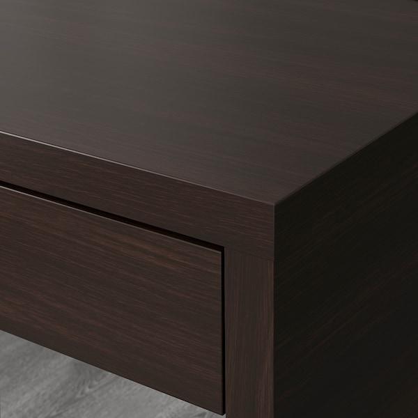 MICKE Scrivania, marrone-nero, 73x50 cm
