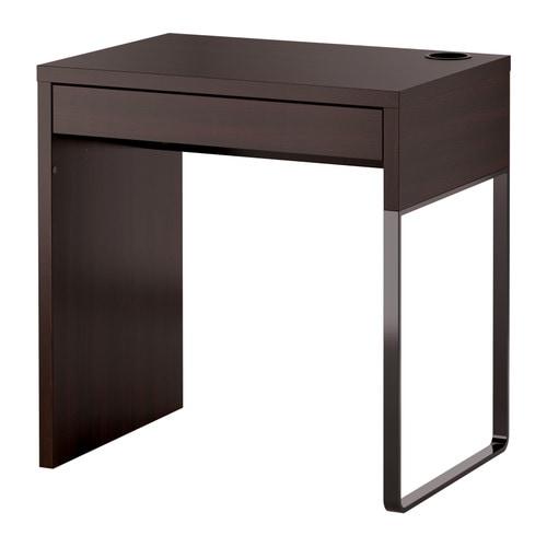 MICKE Scrivania - marrone-nero - IKEA