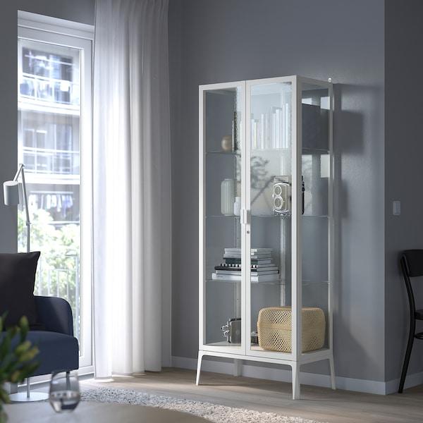 MILSBO Vetrina, bianco, 73x175 cm