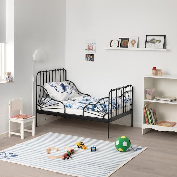 Letti Bassi Per Bambini Ikea.Minnen Struttura Letto Allungabile E Doghe Nero 80x200 Cm Ikea