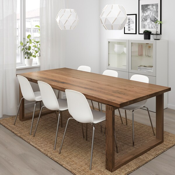 MÖRBYLÅNGA LEIFARNE Tavolo e 6 sedie, marrone, bianco