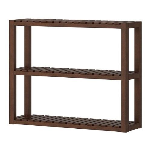Molger scaffale da parete marrone scuro ikea - Scaffale legno bagno ikea ...