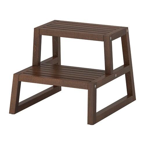 MOLGER Scaletta/sgabello - marrone scuro, 41x44x35 cm - IKEA