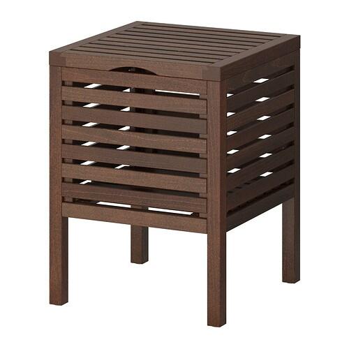 MOLGER Sgabello con contenitore - marrone scuro - IKEA