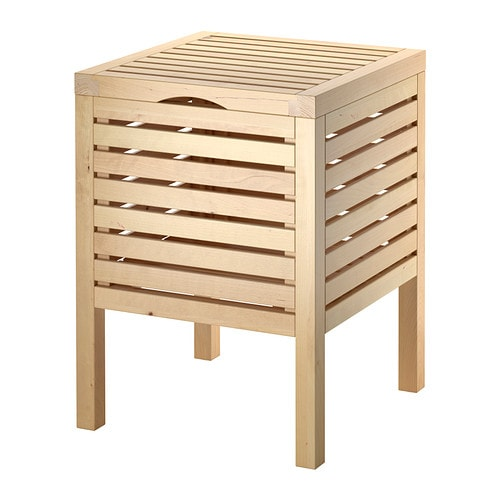 MOLGER Sgabello con contenitore - betulla - IKEA
