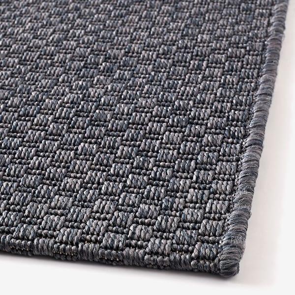 MORUM tappeto tessitura piatta int/est grigio scuro 230 cm 160 cm 5 mm 3.68 m² 1385 g/m²