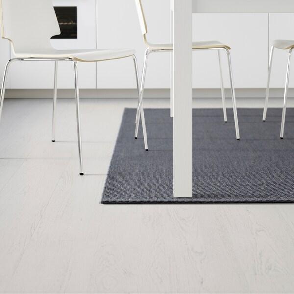 MORUM Tappeto tessitura piatta int/est, grigio scuro, 200x300 cm