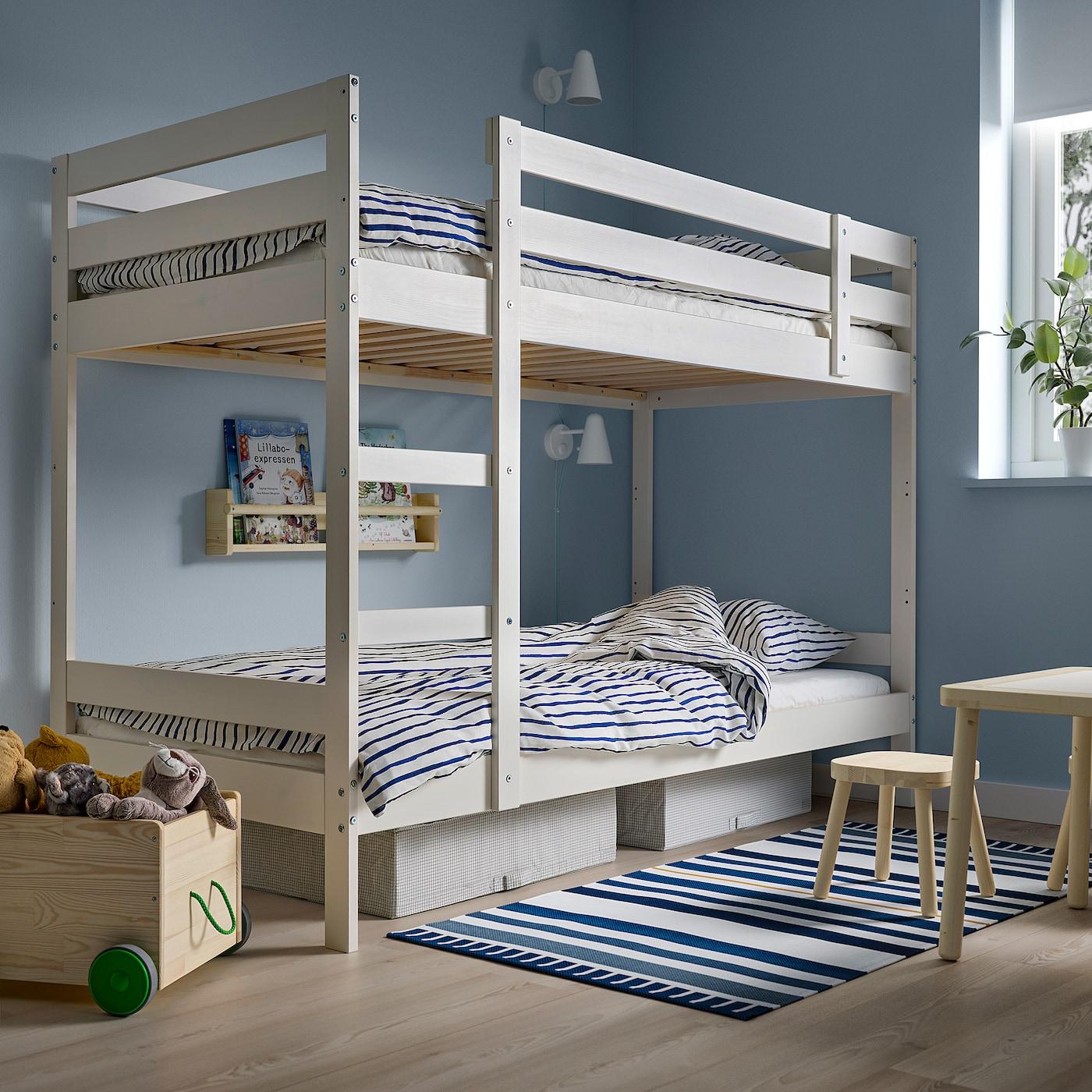Come Costruire Letto A Castello.Mydal Struttura Per Letto A Castello Bianco 90x200 Cm Ikea